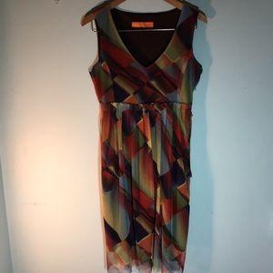 Cynthia Steffe multi colored mesh dress